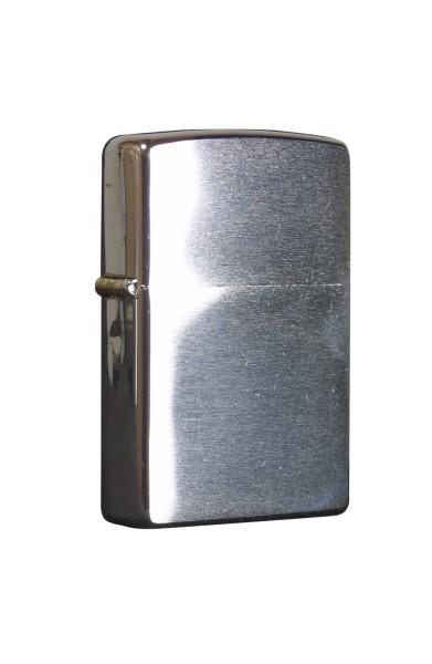 Zippo Benzinfeuerzeug, Chrom gebürstet