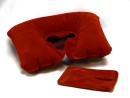 Relags neck cushion , inflatable  , bordeaux red