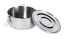 Relags Food Container, stainless steel, round , large