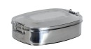 Relags Food Container, stainless steel, oval , large