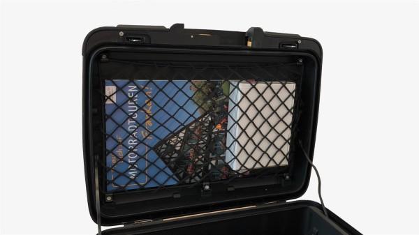 Trennnetz, Stretchdepot, Rahmennetz, Höhe 25 cm, unelastisches Netz für Motorradkoffer und Topcase