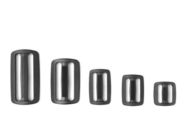 Leiterschnalle, Gurtschnalle, 20 - 50 mm, 1 Stück, Polyamid, schwarz
