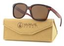 Sunglasses Whip, Glossy Tortoise PC + Rosewood