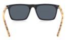 Sunglasses Dropp, Glossy Black PC + Zebra Wood