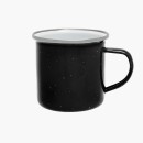 Origin Outdoors Emaille Tasse, 360 ml, schwarz