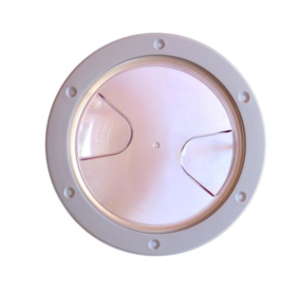"transparent Inspektionsluke 152 mm//205 mm Inspektionsdeckel 6/"" Schraubdeckel"
