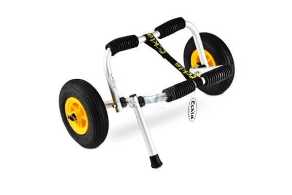 ECKLA-Cart for sea-kayak with support and wheel 260 mm , Alu, silver puncture-proof tyres