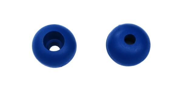 Griffkugel für verschiedene Safety Systeme, für max. 6 mm Seil, 25 x 6 mm, BLAU