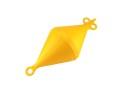 Mooring Buoy Bi-Conical, Plastic, Ext.Ø280mm, Yellow