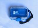 Unbreakable case, Sea Shell 132x100x40mm, waterproof, blue