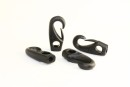 CARBINE HOOK WITH EYE D6MM POLYAM. BLK