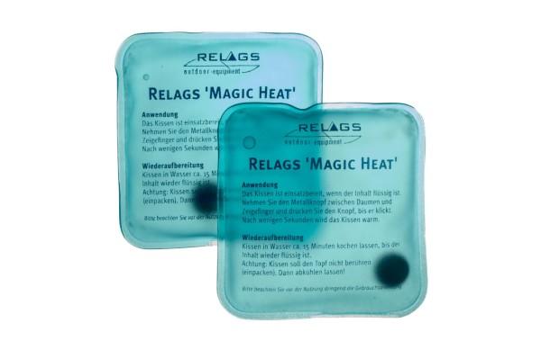 BasicNature Magic Heat wiederaufladbarer Wärmer, 2 Stück