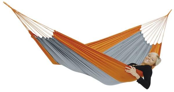Amazonas Leichthängematte Silk Traveller, techno orange-grau