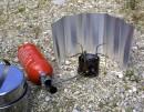 BasicNature Alu Windschutz rollbar, 18 cm hoch