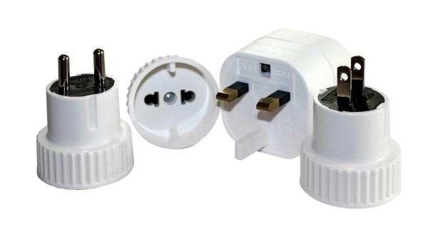 BasicNature Steckeradapter Welt Set, mit 4 Adaptern