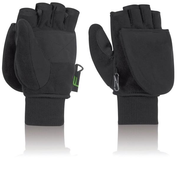 F Handschuhe Klapp-Fäustl, M, schwarz