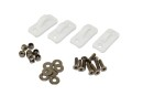 Hook, All purpose hook for Luggage net Kayak, 4 Piece, White