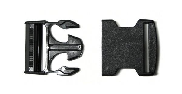 Buckle black for 50 mm Strap, Plug buckle, Belt buckle