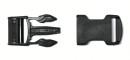 FASTEX - Steckschnalle für 25 mm Gurtband, schwarz