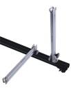 ECKLA-vertical support for roofrack 40cm, alu, foldable...